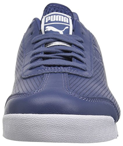 Puma Mens Roma Dlx Perf Sneaker Blå Indigo-puma Vit