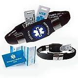 #8: Waterproof ELITE PLUS USB medical ID bracelet, 2 GB USB, 10 lines engraving - (Black)