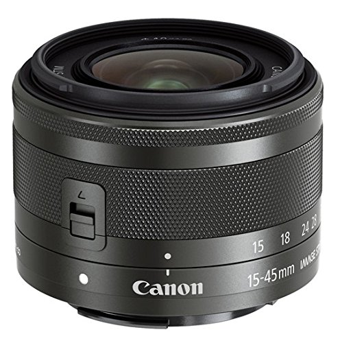 Canon 15-45mm f/3.5-6.3 IS STM Lens (Black) - International Version (No Warranty)