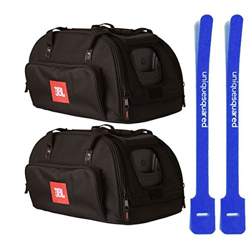 JBL EON10-Bag-DLX EON10 G3 EON 510 Soft Carry Travel Tote Bag Pair & Cable Ties