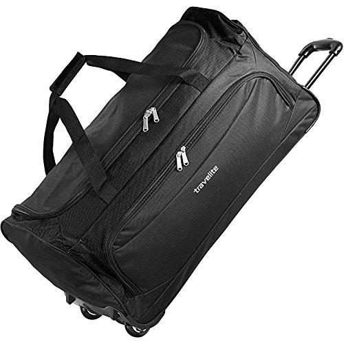Travelite Garda XL Reisetasche groß mit Rollen Damen und Herren mit Trolley-Funktion 72 cm schwarz