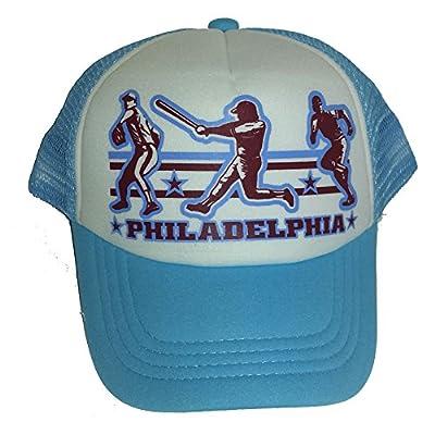 Toddler Kid's Philadelphia Baseball Snapback Mesh Trucker Hat Cap