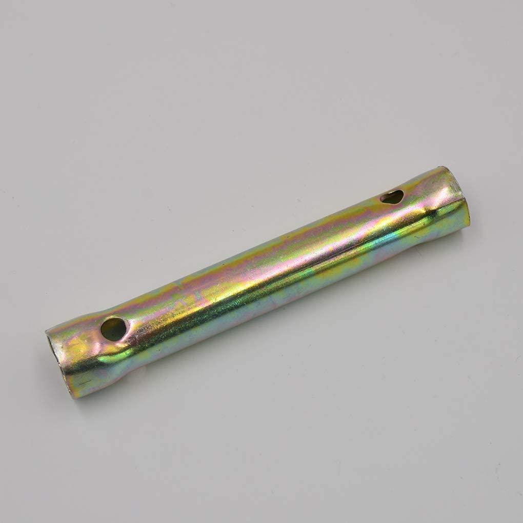 18mm Double Fin allumage Bougie Spanner Profonde port/ée Cl/é /à Douille Moto Partie Pegcduu 130mm 16