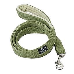 Planet Dog 5\' Natural Hemp Leash with Fleece Lined Handle, Apple Green