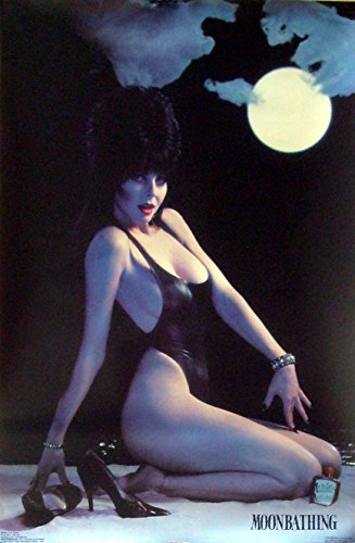 Elvira Sexy Moonbathing Poster