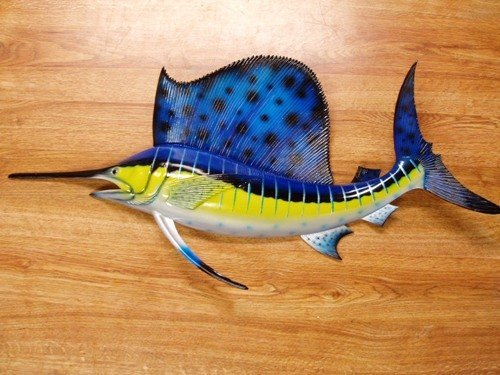 Charlotte International Ocean Sailfish Salt Water Fishing Replica Wall Mount by Charlotte
