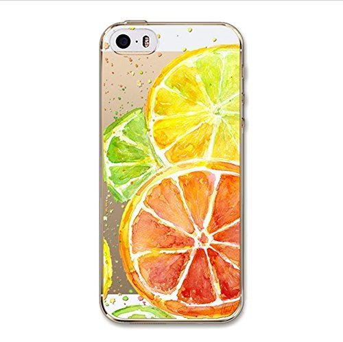 DECO FAIRY Compatible with iPhone 6 / 6s, Fruits Cocktail Mocktail Dice Slice Lime Lemon Citrus Juice Series Transparent Translucent Flexible Silicone Cover Case (Iphone 6 Diet Coke Case)