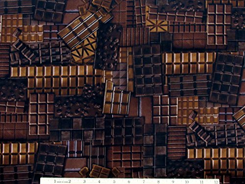 Chocolate Candy Confection Affection Fabric by The Yard