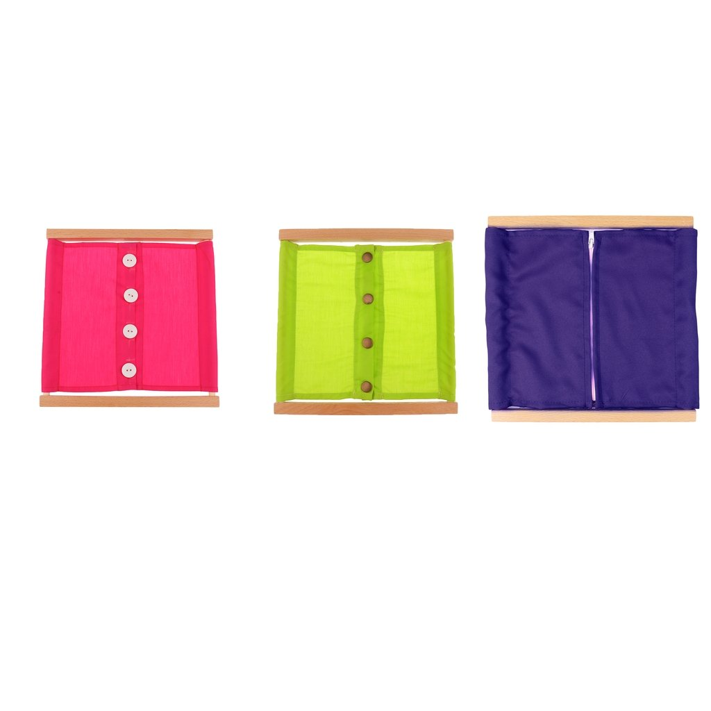 MagiDeal Montessori Zipping& Buttoning Dressing Frame 3 Pieces/Set Baby Kids Early Learning Toys