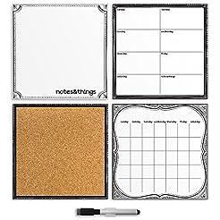 Brewster White 4-Piece Organizer Set