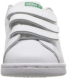 adidas Originals Kids\' Stan Smith CF I Sneaker, White/White/Green, 7 M US Toddler
