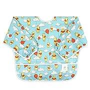 Bumkins Baby Toddler Bib, Disney Waterproof Sleeved Bib, Winnie The Pooh Balloon (6-24 Months)