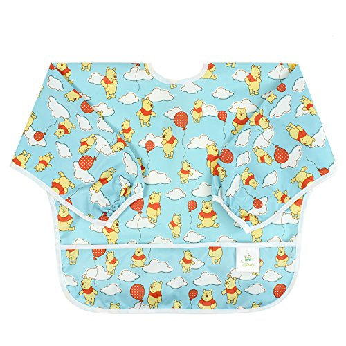 Bumkins Disney Baby Waterproof Sleeved Bib, Winnie The Pooh Balloon (6-24 Months)