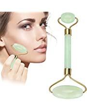 LZLRUN Anti Aging Jade roller Therapy 100% Natural jade facial roller double Neck Healing Slimming Massager (Jade Roller)