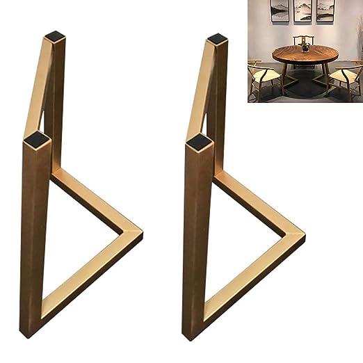 Conjunto de 2 Patas de mesa de metal, Pata en forma de L ...