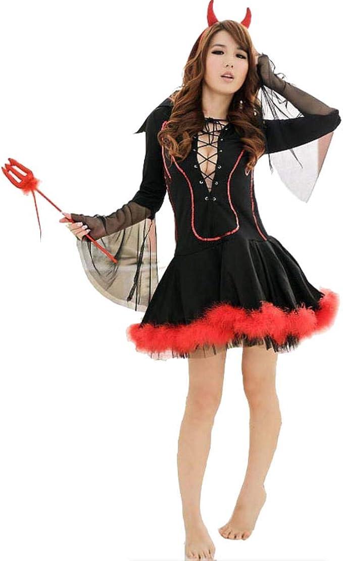 fagginakss Disfraz de Diablo Mujer Cosplay Traje 3pcs Contiene ...