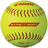 Champro-Safe-T-Softball-Cover-Optic-Yellow-12-Inch-Pack-of-12