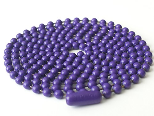 Ball Chain Stainless Steel 30 Inches 2.4mm - Purple Enamel - Enamel Bead Chain