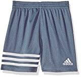 adidas Boys' Little Athletic Short, Raw Steel, 7