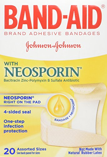 - Band-AID with Neosporin Bandages Assorted Sizes 20 Each (Pack of 3)