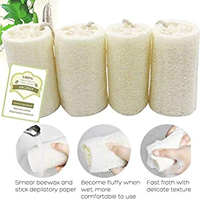 Natural Loofah Exfoliating Bath Sponge, Loofah Spa Scrubber, Body Cleaning Peeling Bath Sponges Ball, Exfoliating Bath Shower Puffs, Perfect for Making Lofa Soap