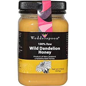 Wedderspoon 100% Raw Organic New Zealand Honey - Wild Dandelion - 17.6 Ounces