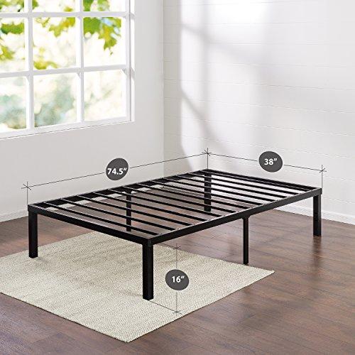 Zinus Quick Lock 16 Inch Metal Platform Bed Frame, Mattress Foundation, No Box Spring Needed, Twin