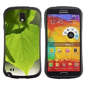 LASTONE PHONE CASE / Suave Silicona Caso Carcasa de Caucho Funda para Samsung Note 3 N9000 N9002 N9005 / Tree Green Nature Sun Leaf