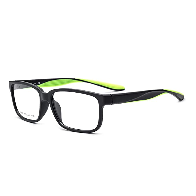 09bd67ce677 HEPIDEM TR90 Men Sports Outdoor Square Optical Glasses Frame Spectacles  7102 (Green
