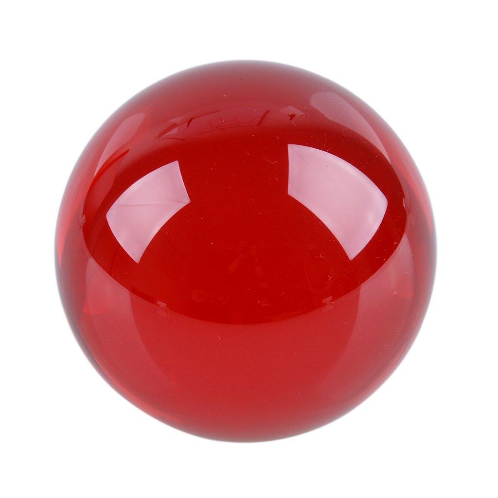多色透明 水晶玉 50mm クリスタルボール 装飾品 (赤) B00X6XIMSU 赤 赤