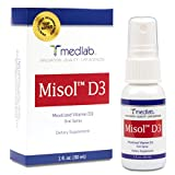 Vitamin D3 Spray (5000 IU) Misol D3 – Patent Pending (MICELLIZATION) – in your blood stream in MINUTES! – 90 Day + Supply. Simple spray daily – 100% Satisfaction Guarantee