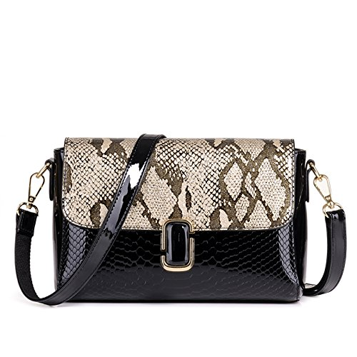Champagne Snake (Sprnb The New Tide Single Shoulder Bag Fashion Snake All-Match Shoulder Small Package,Champagne Gold)