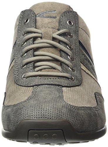 camel active Gizmo, Men's Low-Top Sneakers Brown (Dark Grey Vintage Pu/Taupe Suede)