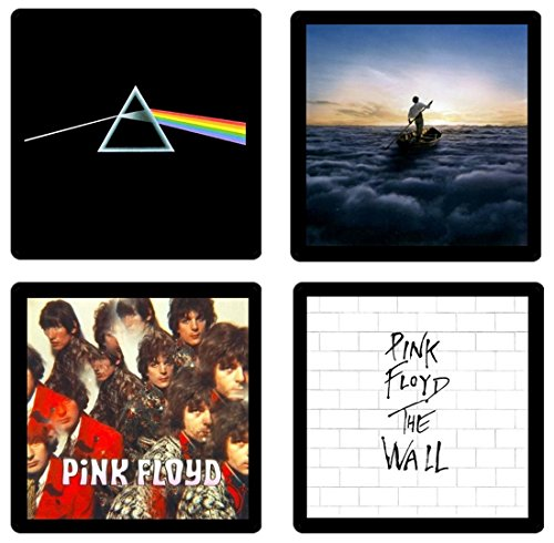 Pink Floyd - Collectible Coaster Gift Set #1 ~ (4) Different Album Covers Reproduced on Soft Pliable Coasters ()