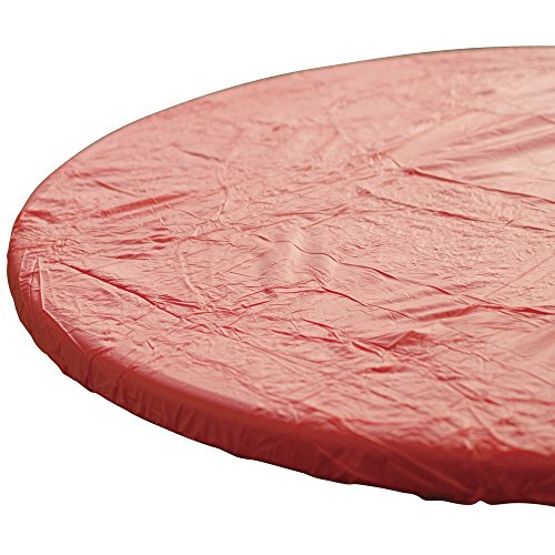 - Kwik-Covers Disposable Table Cover Round Red Plastic - 48