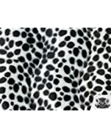 Velboa Faux / Fake Fur Dalmatian WHITE BLACK Fabric By the Yard