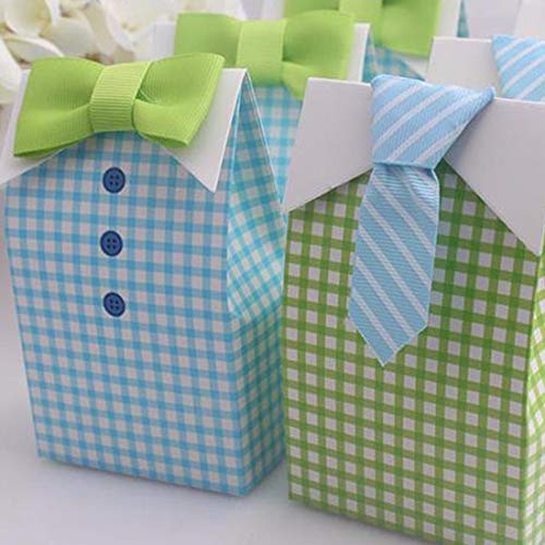 Bag F - Retail 20 Pcs My Little Man Blue Green Bow Tie Birthday Boy Baby Shower Favor Candy Treat Bag - Women Walker Christmas Girls Walkers Laptop Storage Wedding Little Seniors Tree Swimsuit