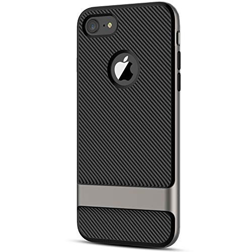 JETech Case for Apple iPhone 7 and iPhone 8, 4.7 Inch, 2-Layer Slim Protective Cover, Carbon Fiber (Black)