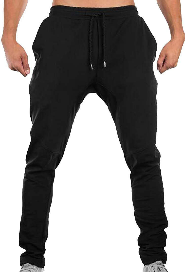 Sweatwater Mens Running Casual Tie Waist Elastic Waist Active Exercise Jogger Pants
