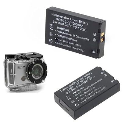 3.7V 1000mAh Li-ion Battery for Sports Action Camera