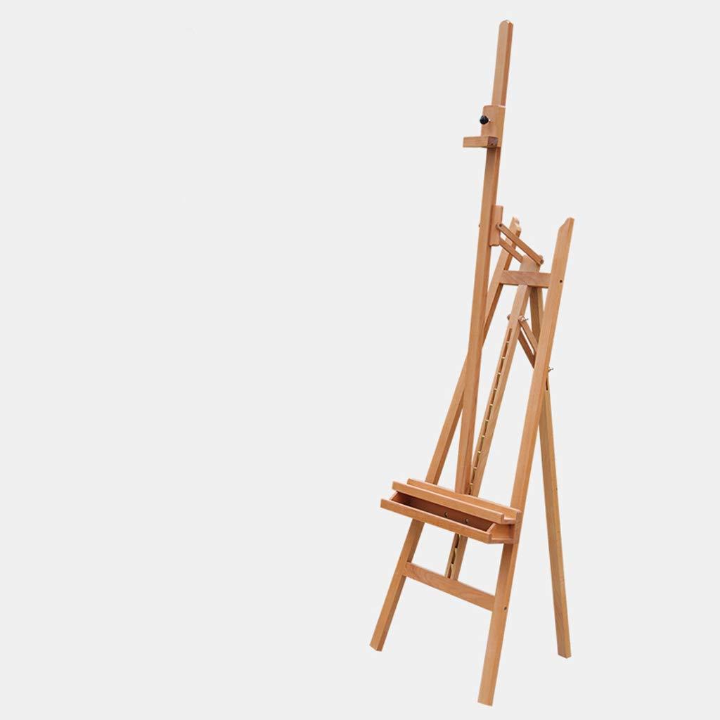 QYSZYG 170cmの純木の芸術のイーゼル、前後に傾けることができる、マルチアングルの使用、60 * 90 * 175(235)cm イーゼル (色 : ウッドカラー)  ウッドカラー B07RVDQ625
