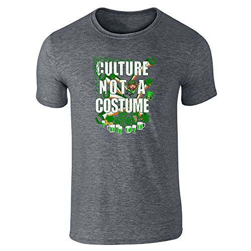 Culture Not A Costume St Patrick's Day Dark Heather Gray 4XL Short Sleeve (Culture Not A Costume Meme)
