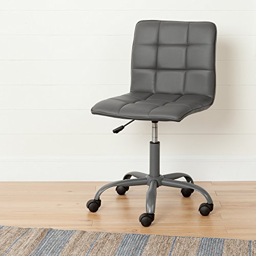 Annexe Gray Office Chair with Quilted Seat - Ergonomic Executive Office Chair - Mid Back Chair for Home Office by South (Ergo Task Chair)