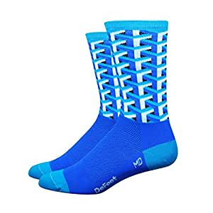 DeFeet Framework Athletic Socks, Blue, Small