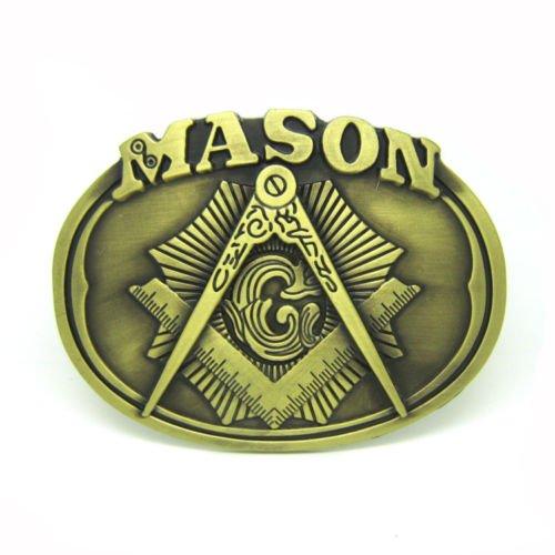 Seal Buckle (Masonic Worker Organization Vintage Masonic Seal G Mason Secret Society Men'S Leather Belt Buckle Super Lot)