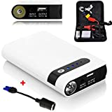 FUSHITON Multi-Function 400A Peak 20000mAh Emergency Car Jump Starter 12 V Portable Power Bank Dual USB Auto Battery Booster Charger Phone Laptop Power Bank With LED Flashlight