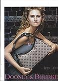 **PRINT AD** With Lauren Bush For Dooney & Bourke Tan Logo Bags **PRINT AD**