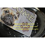 "zhongfei A Bulldog Dog Gifts Sign Love is Being Owned by A Bulldog Dog Sign for Dog Lover (5"" x 10"") 10"