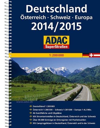 ADAC SuperStraßen Deutschland, Österreich, Schweiz & Europa 2014/2015 1:200 000