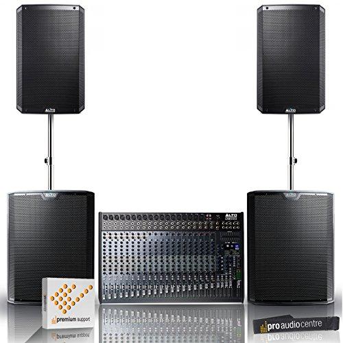 Alto TS215 Loudspeakers & TS218s Subwoofer with LIVE 2404 Mixer Band/DJ Bundle